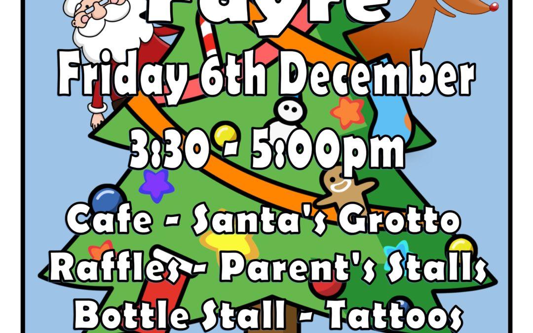 Christmas Fayre Raffle Prizes